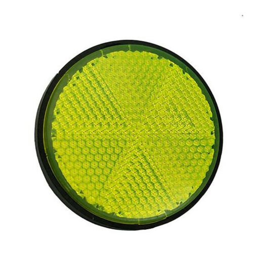 Round Bicycle Reflector Bike Reflective Front Rear Warning Light Safety Tool UK