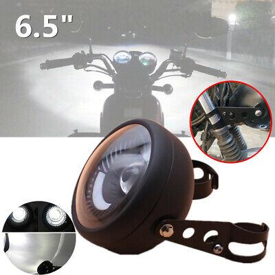 "Mount Bracket Motorcycle Bikes Cafe Racer 6.5/"" LED Headlight Spiral White Bulb"