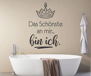 Details zu Wandtatoo Badezimmer Sprüche Wandtattoo Frauen Das schönste an  mir pkm417