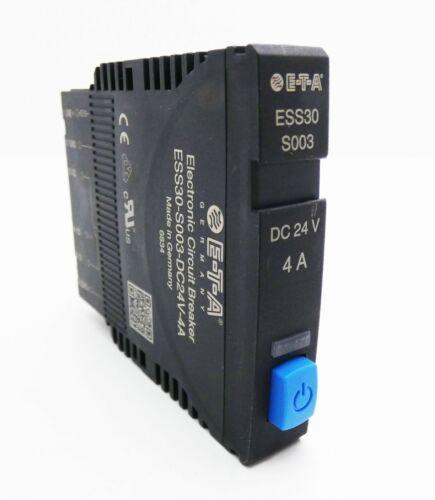 E-T-A ess30-s003-dc24v-4a ess30s003dc24v4a Elekt sauvegarde automate-used