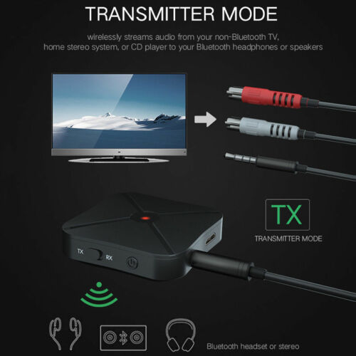 2 in 1 Wireless Bluetooth 4.2 Audio Transmitter Receiver Car Music Adapter KN319
