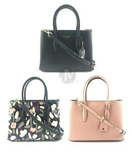 Kate-Spade-WKRU6114-Eva-Leather-Small-Top-Zip-Satchel-Crossbody-Hand-Bag