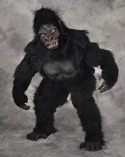 Professional Gorilla Ape Adult Halloween Costume Suit  Mask Hands Feet See Video