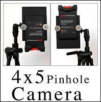 4x5 Pinhole Camera.9x12 cm. Lens 0,2mm Focal Length 50mm,F-Stop 250,112 Degrees.