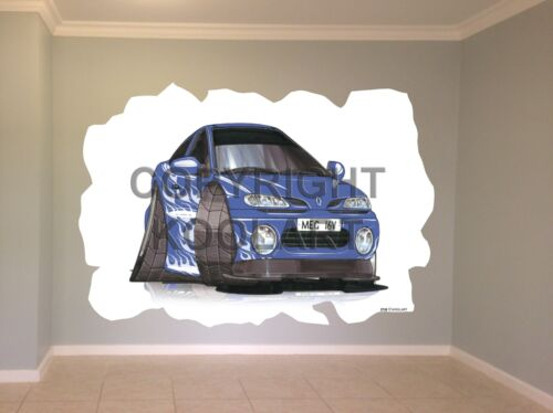 Énorme Koolart Cartoon Renault Megane Autocollant Mural Affiche Mural 2726