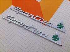 Coppia 2x scritta SPORTIVA Alfa Romeo con biadesivo MiTo 147 156 GT Brera Giulia
