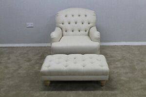 Westbridge-Beige-Fabric-Chesterfield-Style-Accent-Armchair-With-Footstool