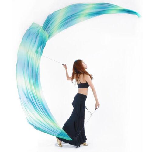 Belly Dance Silk Veil Poi Throw Balls Set Dancing Yoga Costume Props