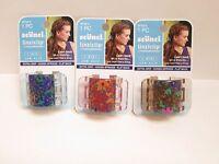 Scunci Linziclip Jaw Clip Floral Design 38708 - Lot Of 3 Packs