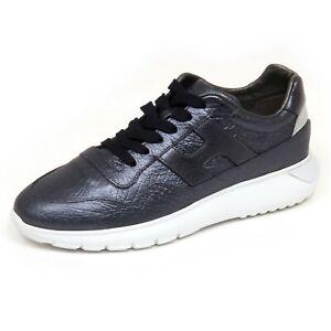 Details about F6966 sneaker donna blu metal HOGAN H371 INTERACTIVE 3 scarpe shoe woman