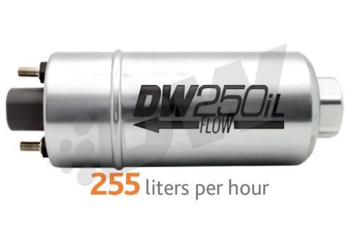 dw9-250 DeatschWerks 250LPH In-Line External Fuel Pump w// Mounting Brackets