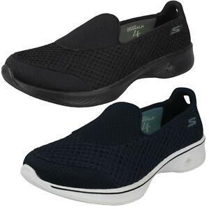 Polinizador Mercurio Estación de ferrocarril  Mujer Skechers 14145 Go Walk 4-Kindle Zapatillas sin Cordones | eBay