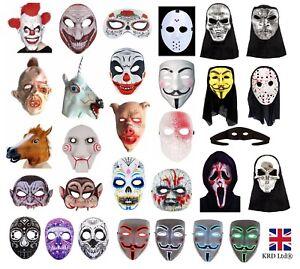 Halloween Masks Uk.Details About Scary Halloween Masks Fancy Dress Accessory Clown Evil Horror Mask Lot Uk