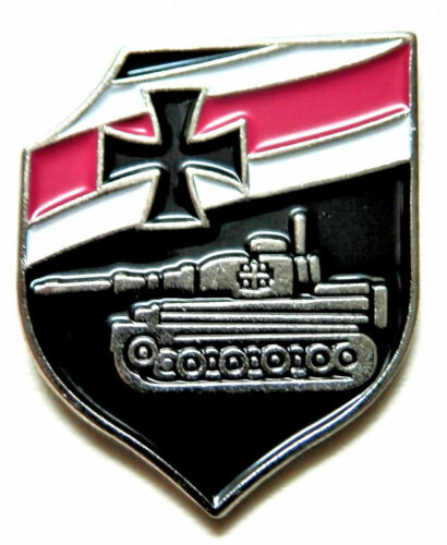 TANK BADGE METAL TIGER REPRO 3rd REICH STYLE WW2 GERMAN MILITARY PANZER