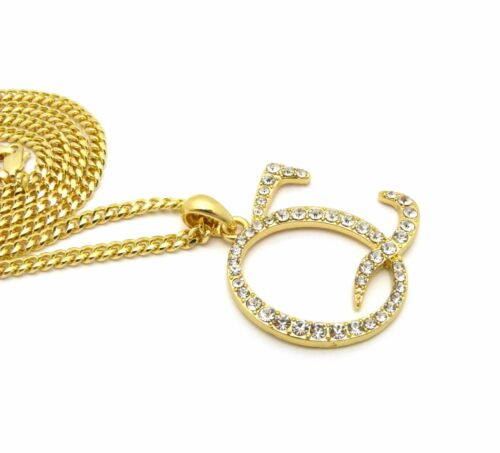 """XSP570G NEW ICED OUT /'QC/' PENDANT /& 24/"""" BOX//CUBAN//ROPE CHAIN HIP HOP NECKLACES"""