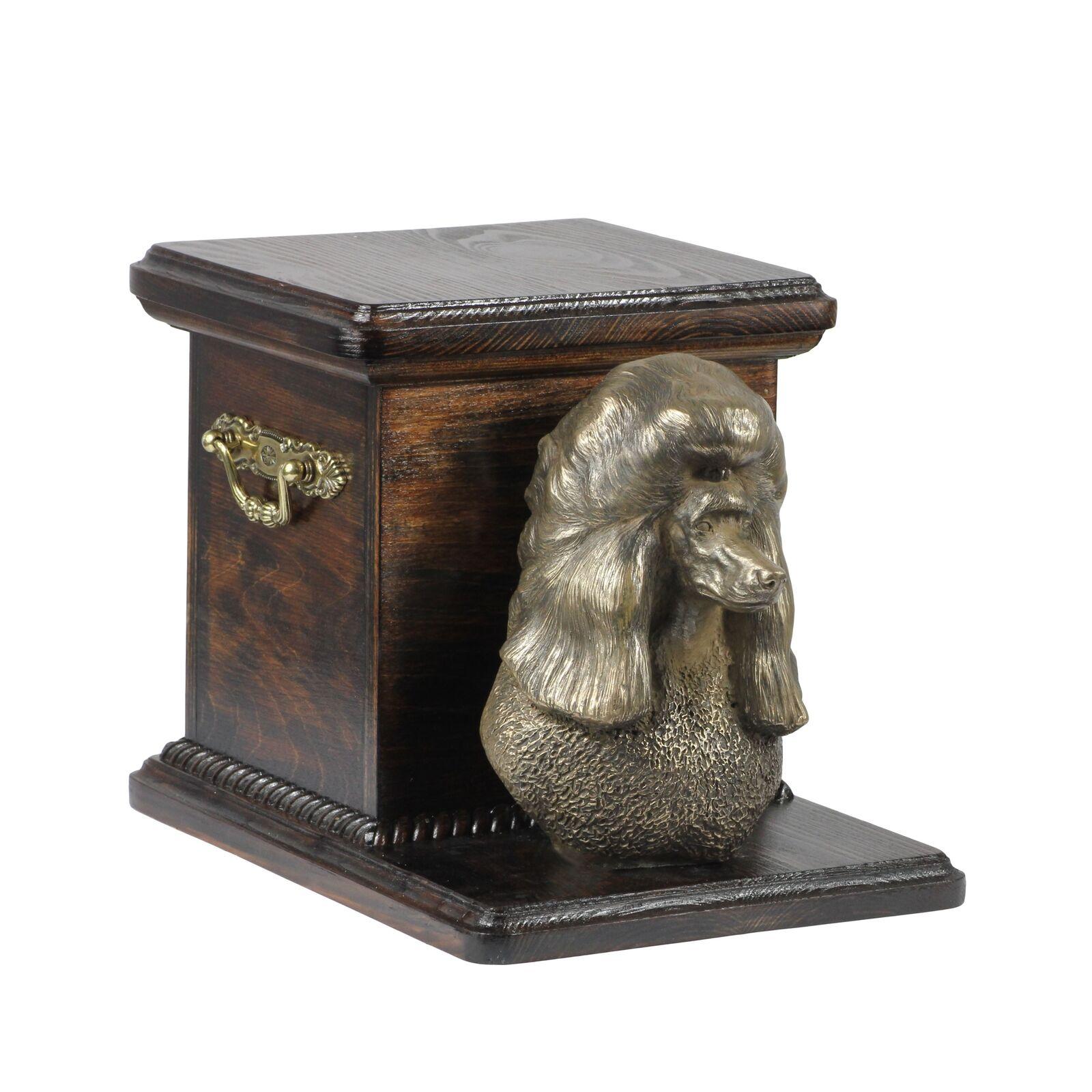 Barbone - urna di legno con l'immagine di un cane Art Dog IT Tipo 2