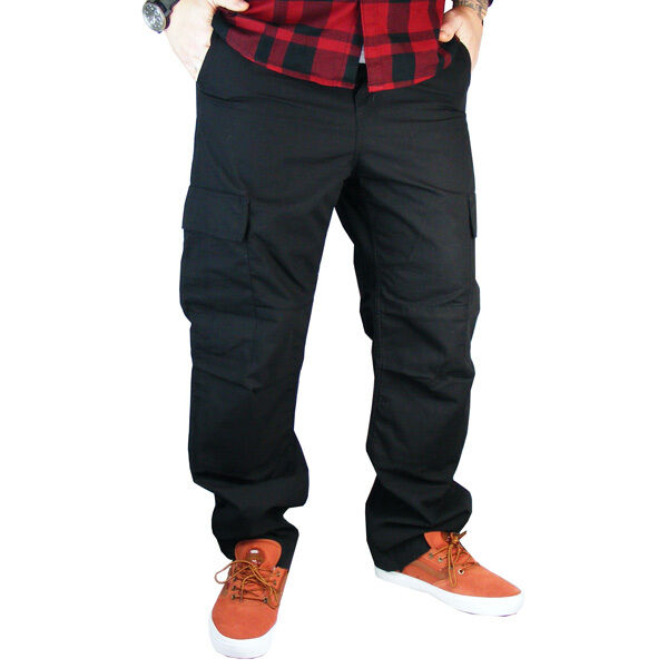 Carhartt Regular Cargo Pant Seitentaschen Hose Ripstop Arbeitshose black