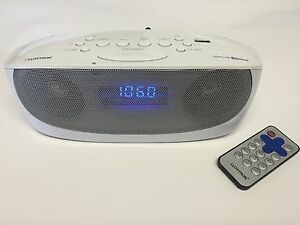 portable digital fm radio alarm clock wireless bluetooth speaker aux usb. Black Bedroom Furniture Sets. Home Design Ideas