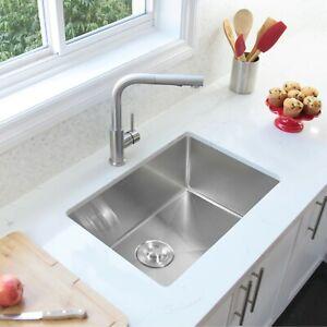 "28""L x 18""W Stainless Steel Single Basin Undermount Kitchen Sink"