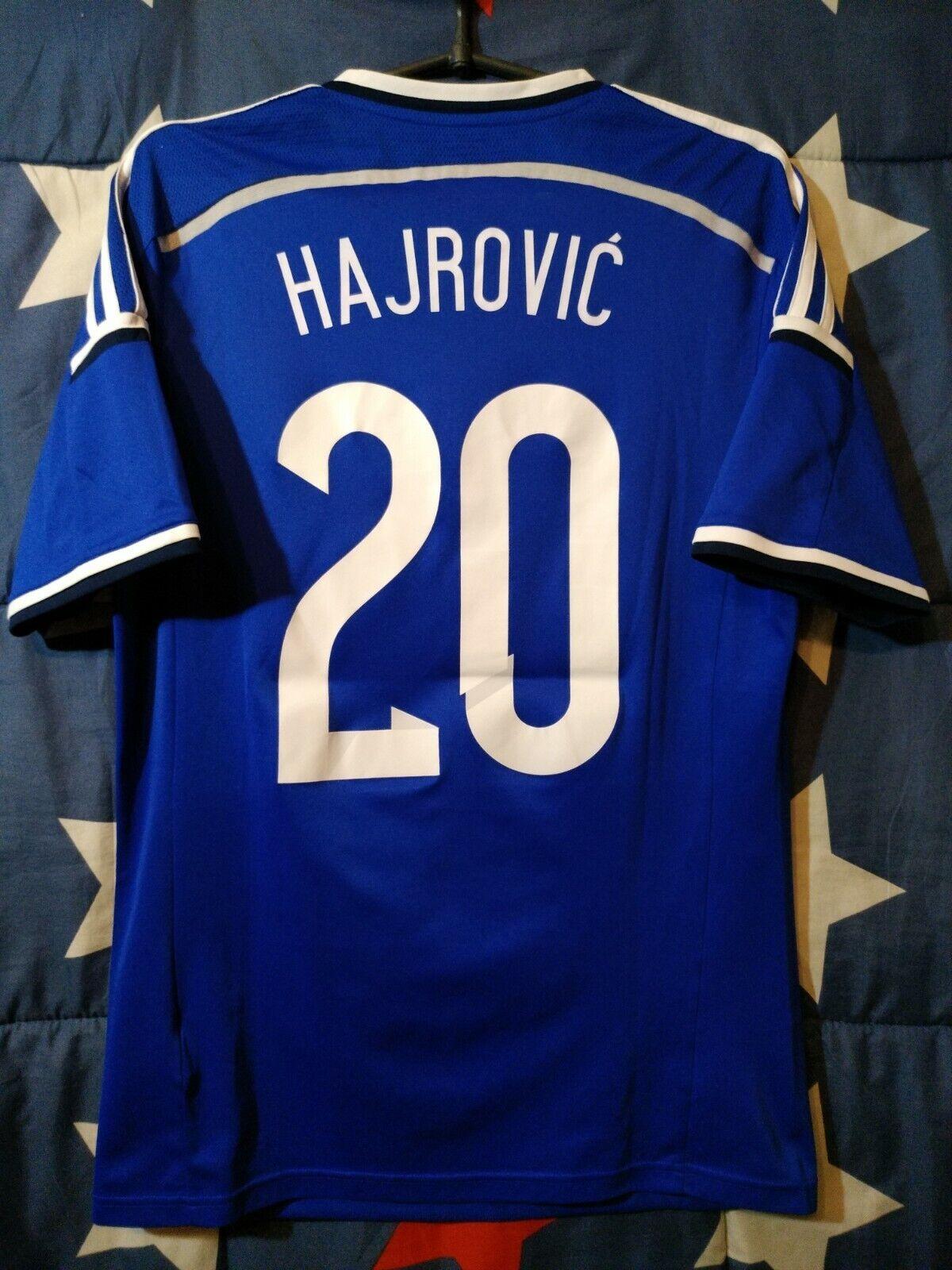 Diuominiione M Bosnia e Herzegovina 2014 MATCH ISSUE Home Footbtutti Shirt Hajrovic  20