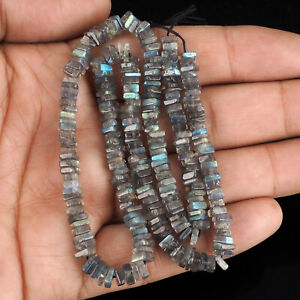 Natural-Labradorite-Untreated-225-Pcs-Square-Beads-Finest-Quality-Drilled-Gems