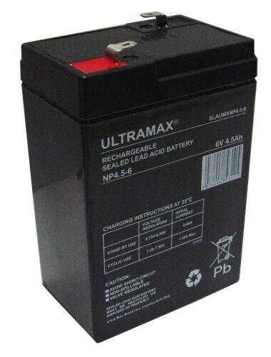 2 x ULTRA MAX NP4.5-6, 6V 4.5 AH (Come 4Ah & 5Ah) BIG SKY BAIT BOAT BATTERIE
