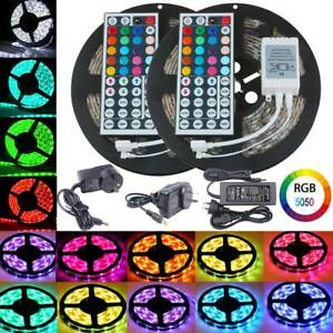 5050-RGB-SMD-1M-20M-LED-Strip-Light-12V-Flexible-Waterproof-IR-Controller-Power