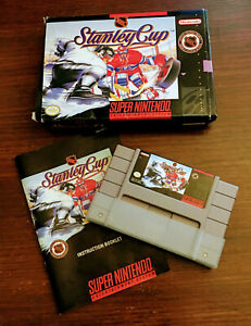 NHL-Stanley-Cup-SNES-Super-Nintendo-Game-Original-Box-Instruction-Tested-Cleaned