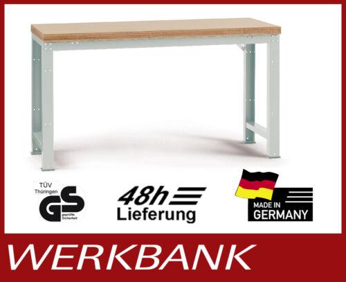 PROFIQUALITÄT 800 mm Höhe 700 kg TRAGKRAFT Werkbank 2000x700 mm
