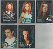 Buffy Season 1 - DVD Promo Set of 5 Cards #M1-M5