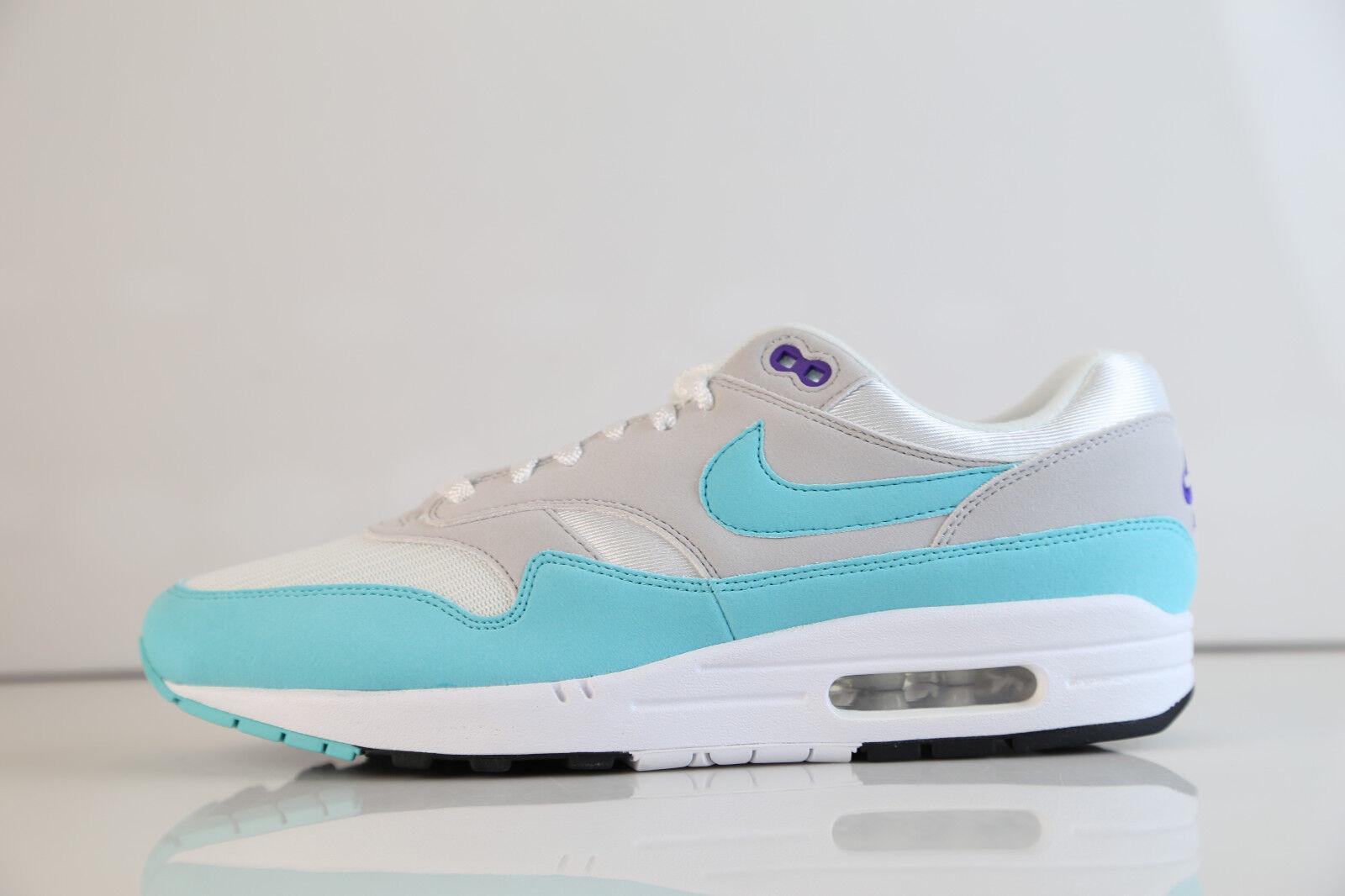 Nike air max 1 anniversario white aqua 908375-105 gli 8 e i 13 og anniv 90 verde