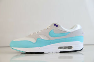 low priced aadc8 bc090 Image is loading Nike-Air-Max-1-Anniversary-White-Aqua-908375-