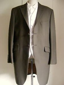 Vintage-BROWN-morning-coat-tailcoat-Wedding-Formal-Wear-Steampunk-Victorian-54S