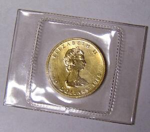 1988-Canada-1-4-oz-9999-Fine-Gold-Maple-Leaf-10-Dollars-SEALED-in-Plastic