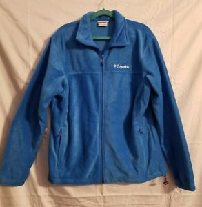 Columbia-Jacket-Fleece-Front-Zip-Women-s-Size-Large-Blue-Warm-Coat-Stylish