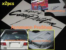 "2x 8.5"" 21.6cm Spirit of Competition decal sticker vinyl Mitsubishi Ralliart evo"
