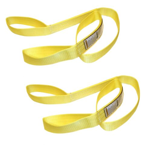 """2x Two 1/"""" x 6/' Polyester Web Lifting Sling Tow Strap 1 Ply EE1-901"""