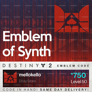 Details about Destiny 2 Emblem of Synth emblem IN HAND!! SAME DAY  DELIVERY!!!