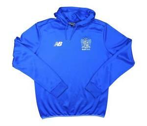 Bury 2015-16 ORIGINALE Training Felpa con cappuccio (eccellente) S Soccer Jersey