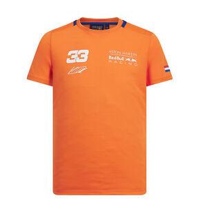 Prudent Nouveau! 2019 Red Bull Racing Homme Max Verstappen Orange #33 T-shirt By Aston Martin-afficher Le Titre D'origine Moderne Et EléGant à La Mode