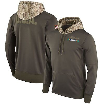 MIAMI DOLPHINS NFL FOOTBALL NIKE SALUTE TO SERVICE TEAM ISSUED 3XL HOODIE  JACKET e4d34441e