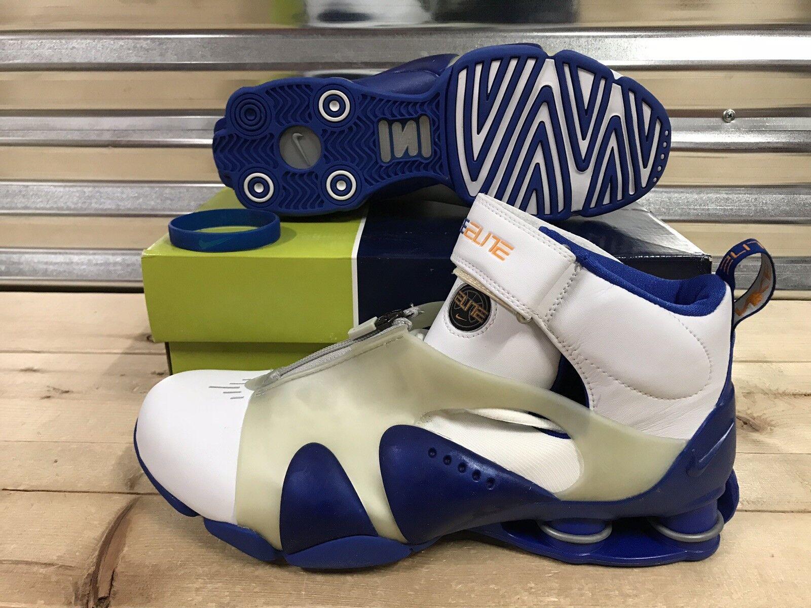 Nike Shox Stunner PR Retro 2002 shoes VC Vince White bluee SZ 11.5 ( 304410-102 )