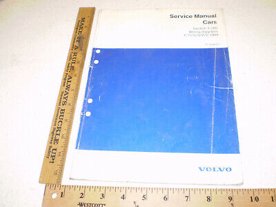 1999 Volvo Service Manual Section 3 (39) Wiring Diagrams ...