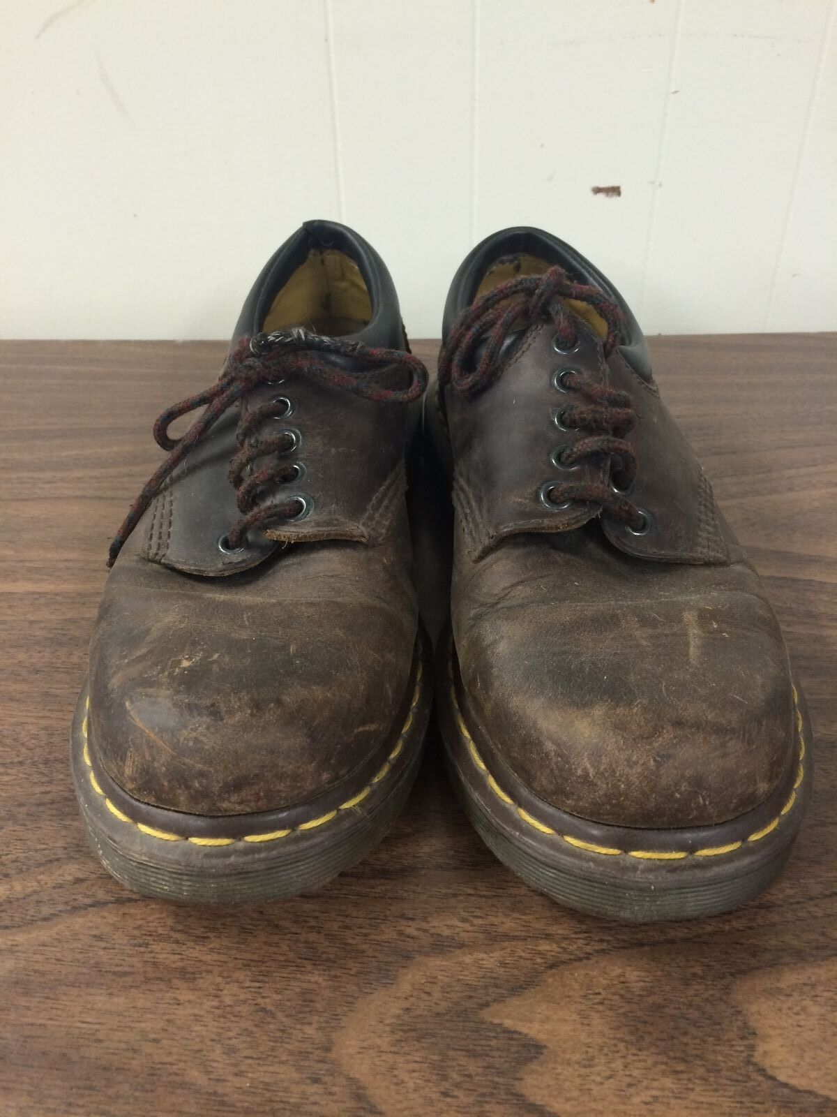 detailed look 766f7 cfd42 Dr. Martens Men s Low Air Wair Boots Brown Air Cushion Size