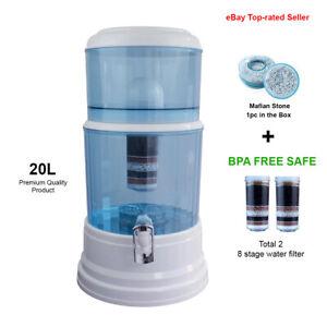 Aimex Water Purifier 8 Stage Water Filter Maifan Stone Dispenser 2 Filters 20L