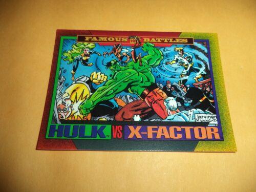 Hulk vs X-Factor # 179 1993 Marvel Universe Series 4 Base Trading  Card