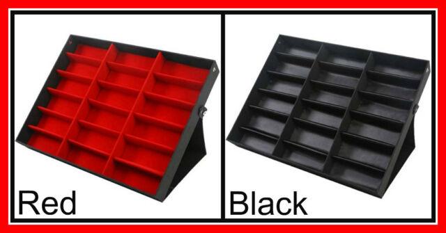 18 Grid Sunglasses Storage Box Organizer Glasses Display Case Stand Holder Large