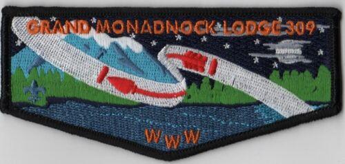 OA Lodge # 309 Grand Monadnock S-8 Blk Bdr; Orange Letters
