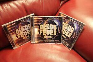 Disco-Fever-Vol-1-2-and-3-Various-2000-CD-Original-Artists-Musicbank