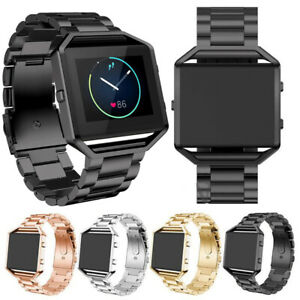 Classic-Tracker-Stainless-Steel-Bracelet-Strap-Watch-Band-For-Fitbit-Blaze-Watch